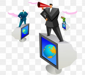 Modern Fashion Geometric Abstraction Business Man Horn - Computer Graphics PNG