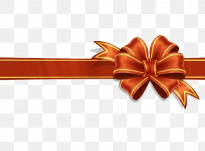 Red Ribbon - Paper Ribbon Gift Wrapping Clip Art PNG