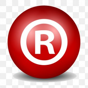 R Word English Circle Icon - Registered Trademark Symbol Patent Intellectual Property Copyright PNG