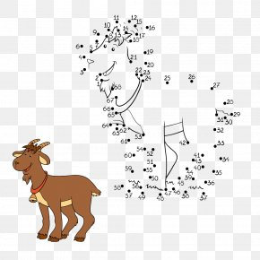 Cartoon Goat And Goat Numbers - Numbers Game (free) Comics Cartoon PNG