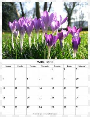 2018 Monthly Calendar - Calendar Spring 0 1 Gardening PNG