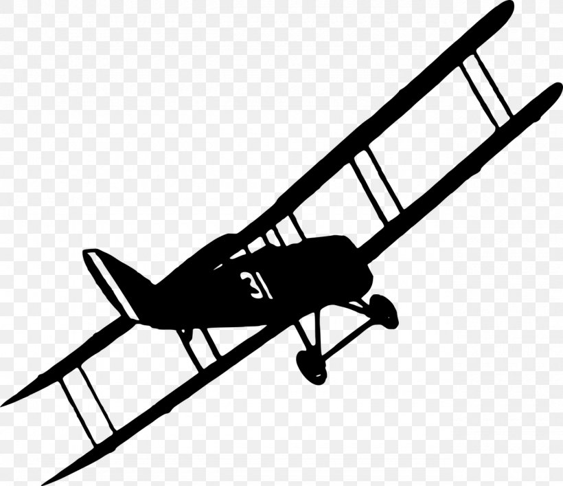 Airplane Biplane Clip Art, PNG, 1280x1105px, Airplane, Aircraft, Aviation, Biplane, Black And White Download Free