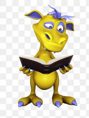 Dinosaur Reading - Book Reading Cartoon Photography Illustration PNG