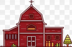 Cartoon Country Barn Vector Architecture - Building Architecture Cartoon PNG