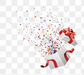 Vector Open Box Courtesy - Christmas Gift Birthday PNG