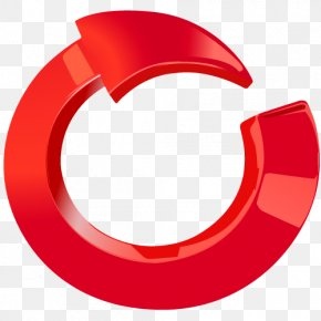 Red Arrow - Circle & Arrow 3D Circle Red PNG