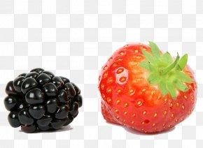 Blackberries And Strawberries - Strawberry Frutti Di Bosco BlackBerry Fruit PNG