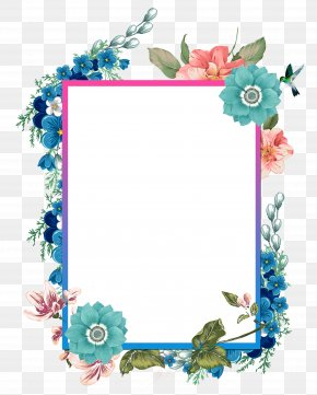 Hand Painted Beautiful Borders - Borders And Frames Watercolor Painting PNG