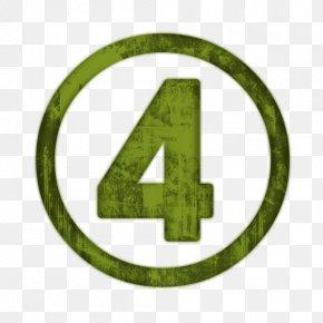 Number Four - Number Symbol Clip Art PNG
