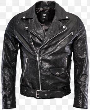 Jacket - Leather Jacket Clothing PNG