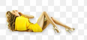 Lying Female Model - Model Sugaring Designer Icon PNG