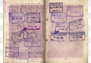 Dumpling Is The Trials Of A Long Journey. - Second World War Europe Passport The Holocaust Travel Visa PNG