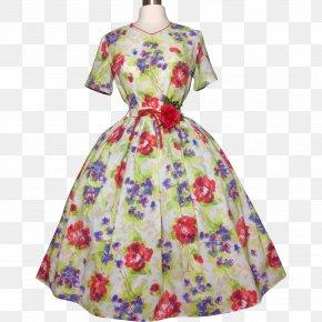 Dress - Dress Vintage Clothing 1950s Sleeve PNG