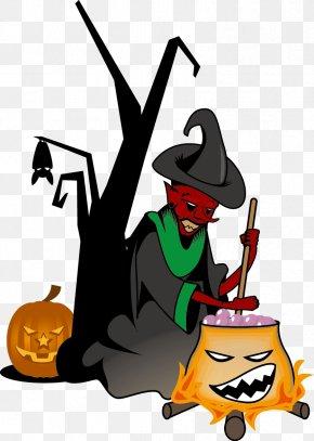 Vector Wizard - Halloween Euclidean Vector Clip Art PNG