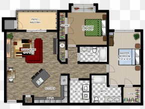 Furniture Floor Plan - House Plan Apartment River House Floor Plan PNG
