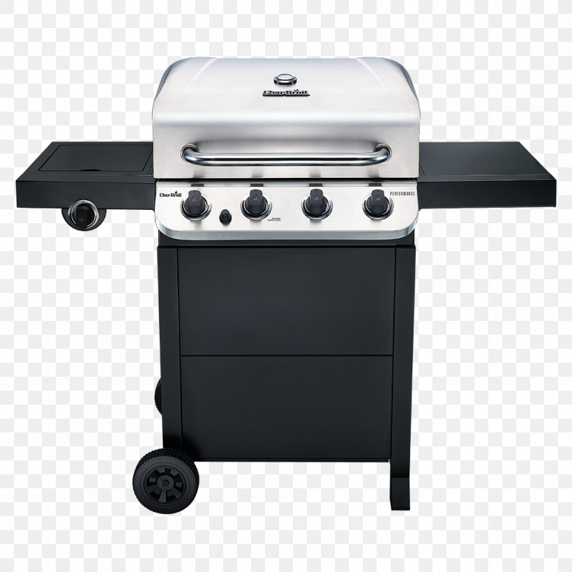 Barbecue Char-Broil Performance 463376017 Char-Broil Performance 4 Burner Gas Grill Grilling, PNG, 1000x1000px, Barbecue, Barbecuesmoker, Charbroil, Charbroil Classic 463874717, Charbroil Gas2coal Hybrid Download Free