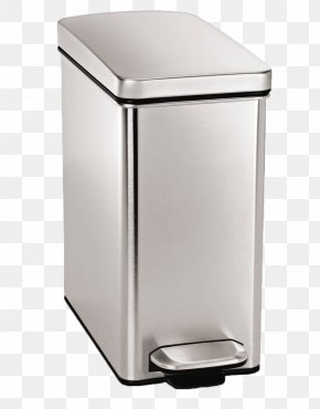 Trash Can With A Lid - Rectangular Step Can Waste Container Stainless Steel 40 Litre Semi-round Step Can Step Cans PNG