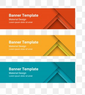 Banner Vector Material - Web Banner Template PNG