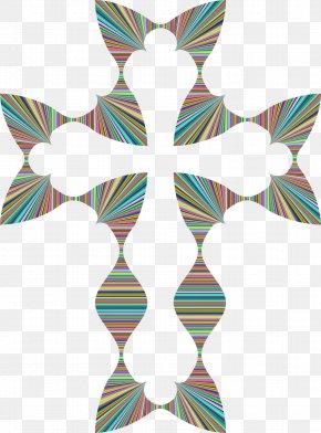 Christian Cross - Wave Crucifix Christian Cross Clip Art PNG