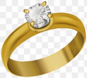 Ring Transparent Clip Art Image - Wedding Ring Gold Clip Art PNG
