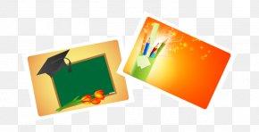 Bachelor Of Cap Cartoon Chalkboard Decorative Material - Education Blackboard PNG