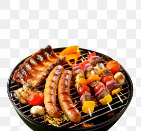 Cool Black Barbecue Poster Background - Sausage Barbecue Chicken Steak Ribs PNG
