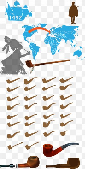 Vector Map - Tobacco Pipe Euclidean Vector Vector Map Illustration PNG