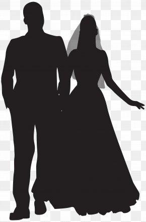Wedding Couple Silhouette Clip Art - Wedding Couple Clip Art PNG