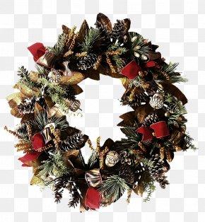 Wreath - Christmas Decoration Wreath Christmas Ornament Evergreen PNG