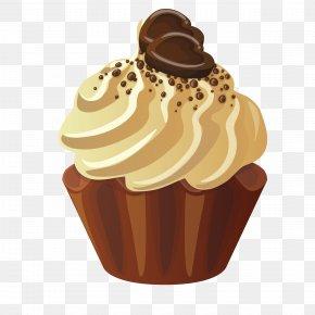Chocolate Cake - Muffin Cupcake Cream Petit Four Panna Cotta PNG