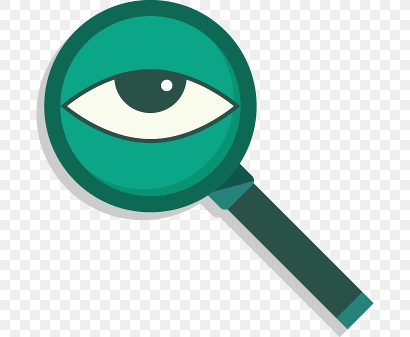 Magnifying Glass Euclidean Vector Eye, PNG, 674x674px, Magnifying Glass, Eye, Glass, Green, Human Eye Download Free
