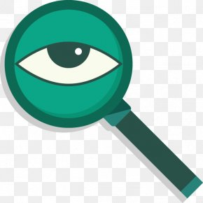 Vector Magnifying Glass And Eye - Magnifying Glass Euclidean Vector Eye PNG