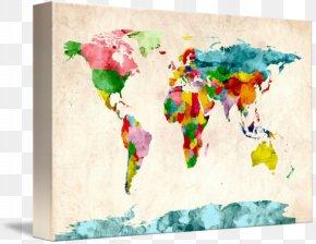 Watercolour Animals - World Map Art Watercolor Painting Printmaking PNG