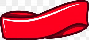 Red Ribbon Freehand Drawing - Car Automotive Lighting Red PNG
