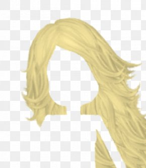 Blonde Haired Cliparts - Blond Long Hair Wig Clip Art PNG