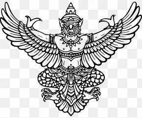 Elephant God Festival - Emblem Of Thailand Garuda Coat Of Arms PNG
