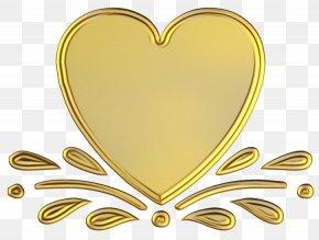 Love Heart - Yellow Heart Love PNG