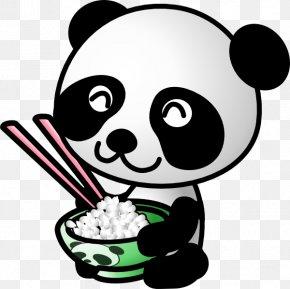 Panda Eating Cliparts - Giant Panda Cuteness Clip Art PNG