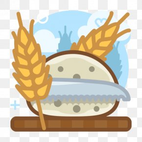 Cartoon Wheat Decoration Material - Wheat Food Bread PNG