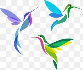 Color Creative Peak Bird - Hummingbird Cross-stitch Pattern PNG