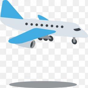 Aeroplane - Airplane Emoji IPhone Air Transportation Text Messaging PNG