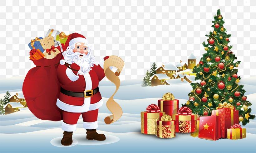 Santa Claus Christmas Tree Gift Christmas Card, PNG, 950x569px, Santa Claus, Befana, Christmas, Christmas Card, Christmas Decoration Download Free