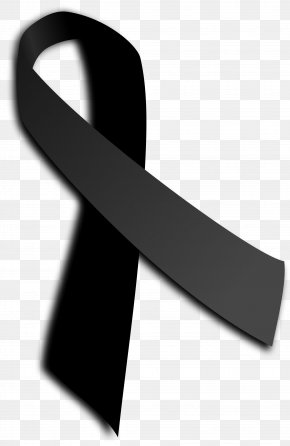Black Ribbon Images - Black Ribbon Awareness Ribbon Clip Art PNG
