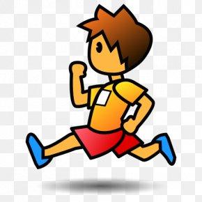 Runner - Emoji Running Emoticon Text Messaging Smiley PNG