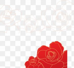 Red Flowers - Flower Download Euclidean Vector Computer File PNG