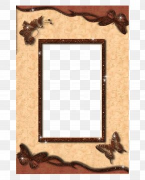 Vintage Yellow Frame - Picture Frame PNG
