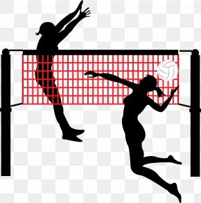 Smash And Block The Volleyball Player - Beach Volleyball Volleyball Net Sport PNG