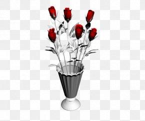 Flower Vase Decoration Simulation - Vase Autodesk 3ds Max Visualization Computer-aided Design 3D Computer Graphics PNG