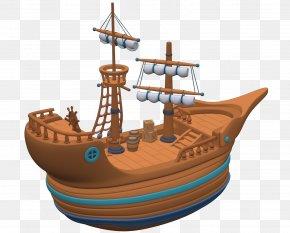Pirate Ship - Water Transportation Watercraft Sailing Ship Fluyt PNG