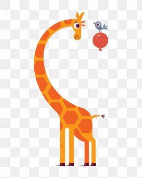 Giraffe - Northern Giraffe Illustrator Drawing Illustration PNG
